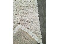 IKEA Gaser runner rug cream deep pile 53x150cm