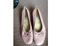 Pink Leather Ballet Pump