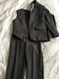 Boys Grey 3 Piece Suit, Shirt and Tie - Unique Item