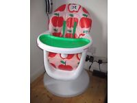 Cosatto 3sixti Highchair - Apple (red, white and green)