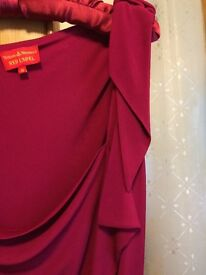 VIVIENNE WESTWOOD RED LABLE GRECIAN STYLE DRESS - FUSCIA SIZE 12