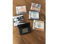 Nintendo DS Lite Black plus games and charger