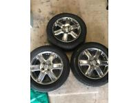 "3 x 16"" Toyota alloy wheels with tyres. Includes brand new Pirelli tyre"