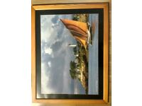 Large coastal sailing framed photo
