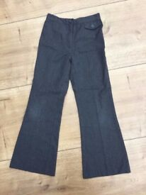 Girl's grey School Trousers, 7-8 years