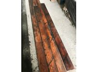 Pitch pine reclaimed T&G flooring