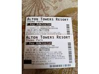 2x Alton Towers 2 day tickets
