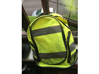 Reflective backpack great for cycling
