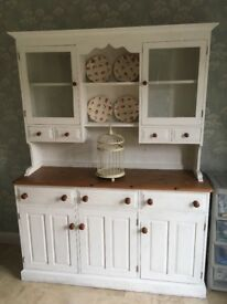 Solid pine dresser painted