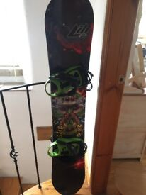 Libtech T-Rice pro 155 + bindings , boots , bag