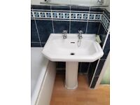 ~~## Traditional full pedestal wash basin with 2 separate taps ##~~