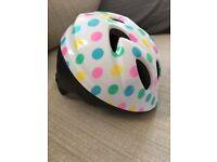 Kids polka dot cycle helmet