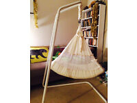 Amby Air baby hamock. Free Standing hamock. Great for colicky, restless babies up to 10 months.