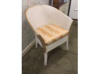 Vintage Lloyd Loom style basket weave COMMODE Chair