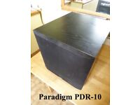 Paradigm PDR-10 Subwoofer Powered Active Home Cinema Sub Base 100W Output *VGC*
