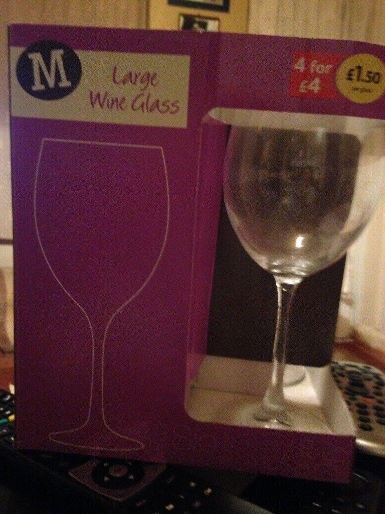 Large wine glasses
