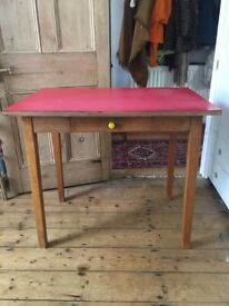 Vintage Formica table/desk with drawer