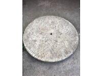 Large circular garden stone