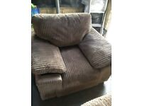 Harveys Jumbo Cord Mink Armchair
