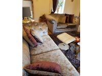 REDUCED **Gorgeous crushed velvet sofas