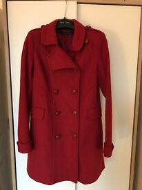 Red French Connection Coat (size 8)