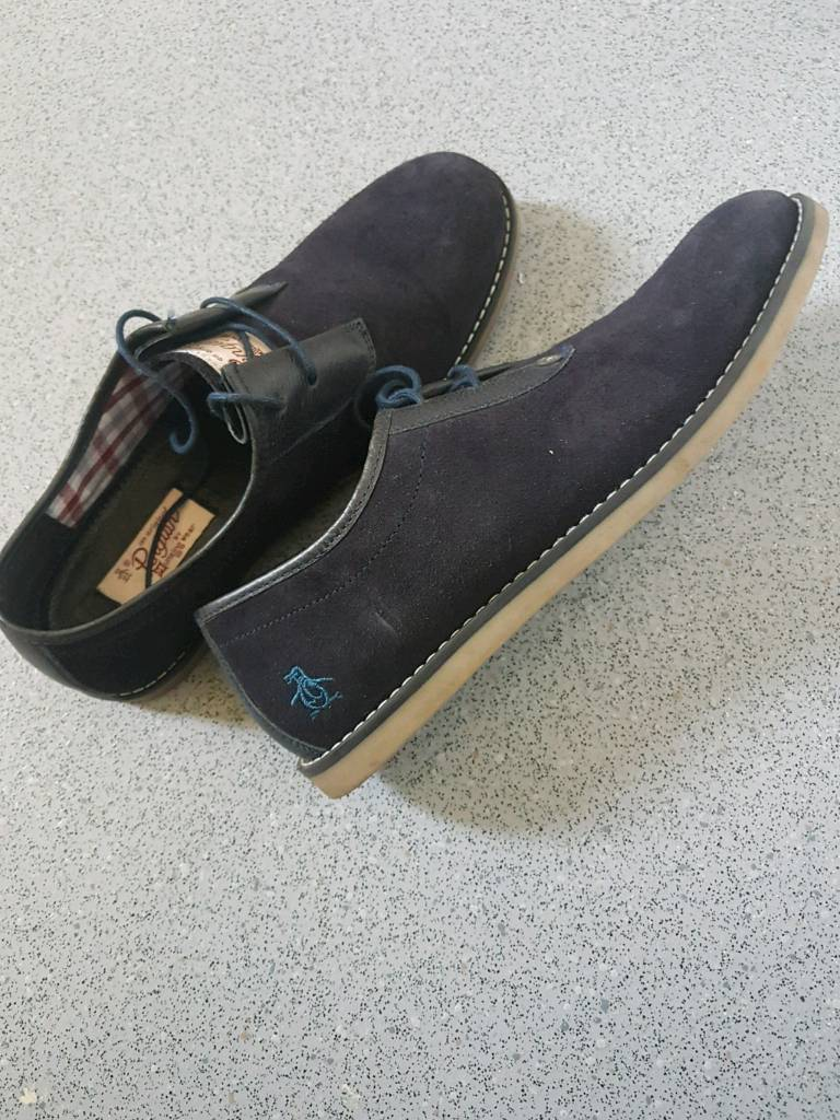 Navy suede Penguin shoes | in Manchester | Gumtree