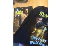 Meat Loaf last tour programme and t shirt (size L)