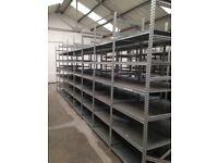 15 bays Galvenised SUPERSHELF industrial shelving 2m high ( pallet racking /storage)