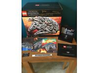 Signed Lego UCS Millennium Falcon with Limited Edition VIP card and other signed extras