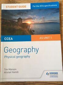 CCEA Geography AS Unit 1,2&3 Revison Guides