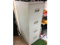 4x Drawer Filing Cabinet 132cm tall x 46cm Wide x 62cmm Deep