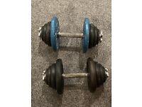 40kg Dumbells - 2 x 20kg Steel Dumbells