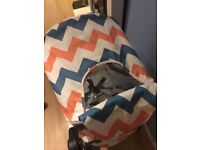 Pushchair MyBabiie MB30 Coral Chevrons