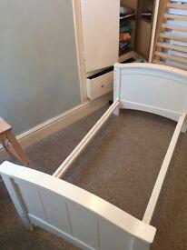 White John Lewis Cot Bed