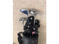 Golf Club set, 11 clubs, bag, balls and tees