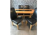 Solid oak table and six chairs Hopewell's ***reduced for quick sale