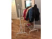 2 x IKEA clothing racks (on wheels)