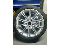 Bmw e46 alloy wheel and tyre