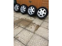 VAUXHALL 15 INCH 4x100 ALLOYS FOR SALE - CORSA, astra, etc