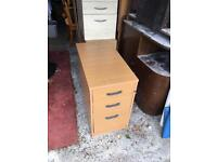 Wood office work drawers filing cabinet desk unit