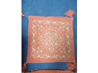 4 luxury terracotta patterned cushion covers