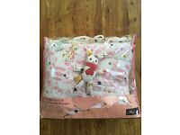 Baby joules baby cot bumper and quilt