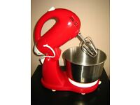 Red Crofton stand mixer, used only once, excellent condition.