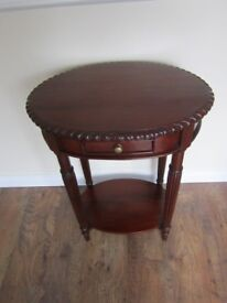 For Sale Oval Wood Hall Table