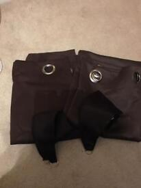 Brown curtains 2 sets