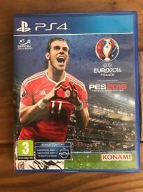 PS4 game euro 2016 pes game