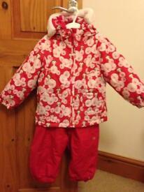 Trespass girls ski outfit size 18-24 months