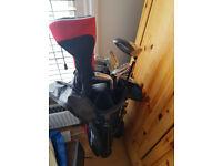 Left handed set Dunlop golf clubs