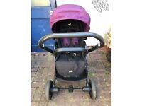 Joie Chrome Travel System inc. Joie i-Gemm™ baby car seat & i-Base (isofix)