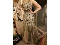 Size 10 Flower Detail Evening Gown / Prom Dress